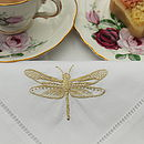 Gold Dragonfly Napkin