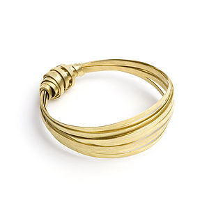 Alegra Knotted Ribbon Bangle - bracelets & bangles