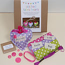 Stitched Fabric Hearts Kit