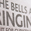 'Merry' + 'Bells Ring' Letterpress Cards