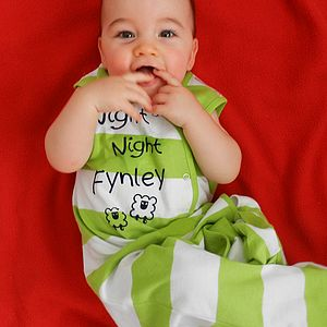 Personalised Organic Baby Sleeping Bag - gifts for babies