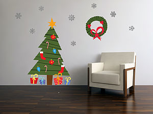 Christmas Cartoon Tree Wall Stickers