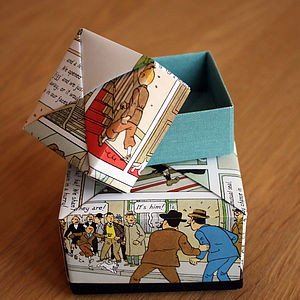 Comic Book Hero Origami Box - shop by occasion