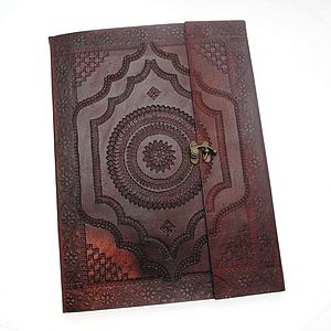 Indra X Large Embossed Leather Photo Album - office & study