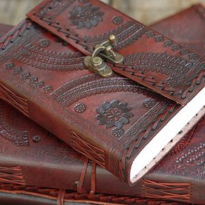 Indra XL Embossed Leather Journal - office & study