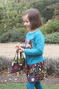Girl's Brown Cord Skirt - clothing