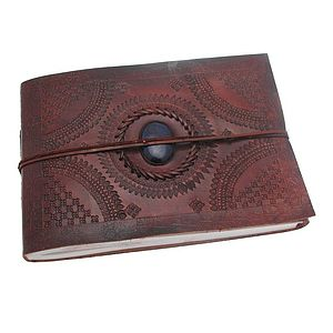 Indra Medium Stoned Leather Photo Album - office & study