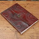 Indra Hefty Embossed Leather Journal