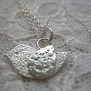 Silver birdy necklace