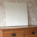 Personalised 'Love Isn't' Canvas