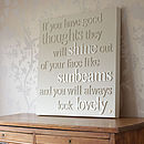 Personalised Lovely Sunbeams Canvas