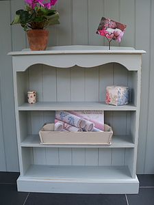Scalloped Bookcase In A Choice Of Size And Colour - shelves