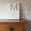 Personalised Capital Letter and Name Canvas