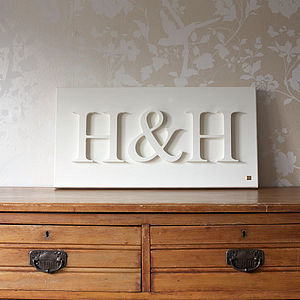 Personalised Initials Canvas - anniversary gifts