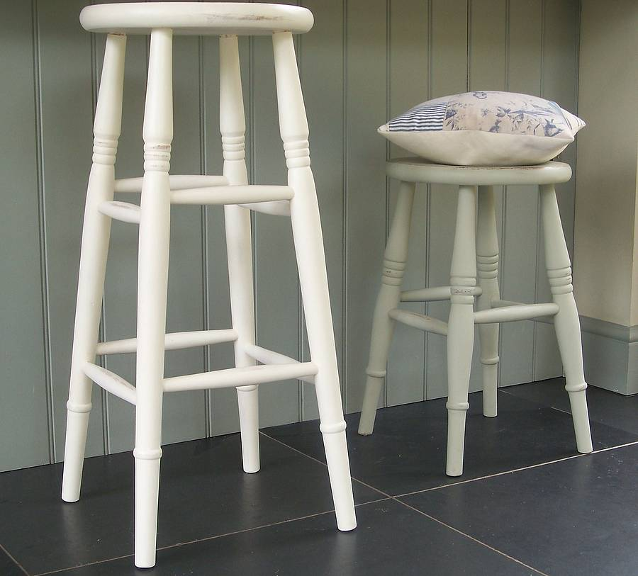 Kitchen Stool Hand Painted In Any Colour By Rectory Blue