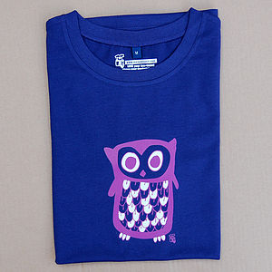 Owl Adult T Shirt