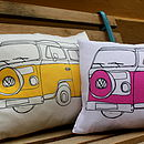 Pair Of Two Campervan Cushions
