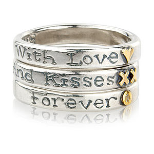 'With Love And Kisses Forever' Ring Trio - rings