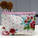 Oilcloth Vintage Inspired Cosmetic Bag