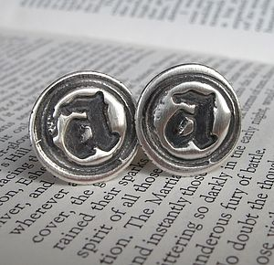 Personalised Silver Wax Seal Cufflinks - men's accessories