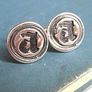 Personalised Silver Wax Seal Cufflinks