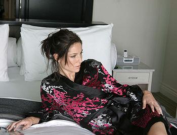 Blossom Chiffon Silk Kimono Dressing Gown