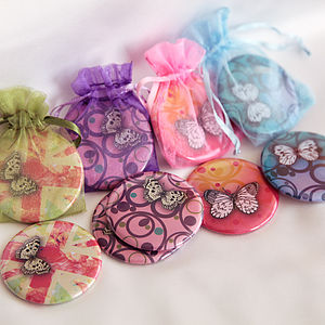 Butterfly Pocket Or Handbag Mirrors - compact mirrors