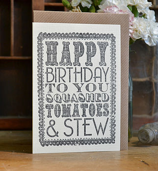 Hand Printed Birthday Cards