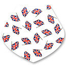 Baby Dribble Bib Union Jack Design