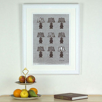 Limited Edition Vintage Style Lamps Print