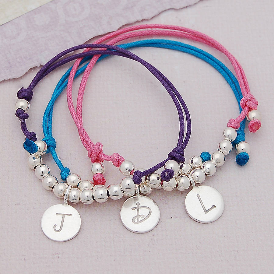 personalised silver girls friendship bracelet by indivijewels ...