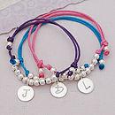 Personalised Silver Girls Friendship Bracelet