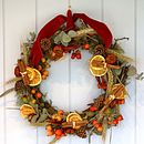 """Rustic Country""  Dried Christmas Wreath"