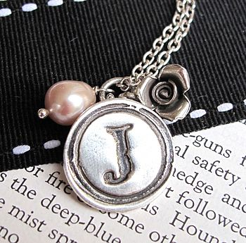 Personalised Vintage Silver Wax Seal Charm