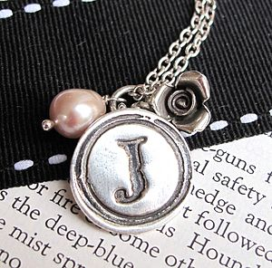 Personalised Vintage Silver Wax Seal Charm - jewellery