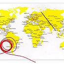 Stitch A Map Postcard: world