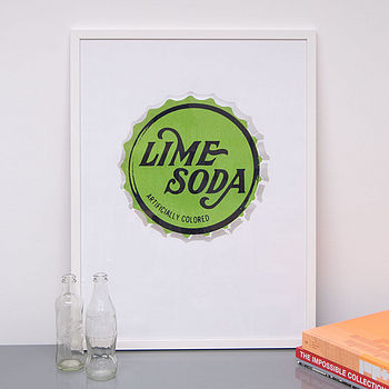 Vintage Soda Pop Bottle Top Screen Prints
