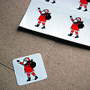 Personalised Santa Christmas Cards & Stickers