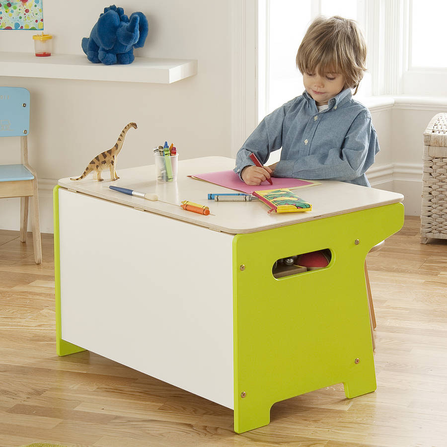 children s table with storage dinosaur box and desk by millhouse 14813