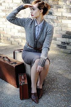 Honesty Striped Cardigan Knitting Kit