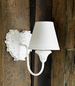 Rustic Wooden Heart Wall Light - lighting