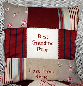 'Best Grandma & Grandad' Cushion - patterned cushions