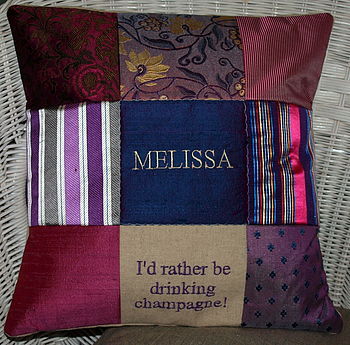 'I'd rather be drinking champagne' Cushion