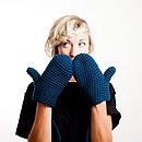 Indigo Blue Organic Cotton Mittens