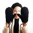 Organic Cotton Crochet Mittens