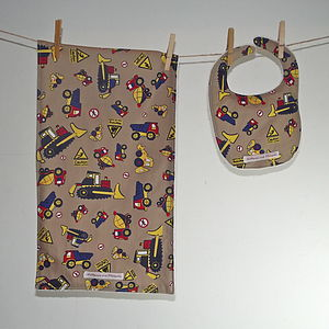 Boys' Bib And Burpcloth - Various Designs