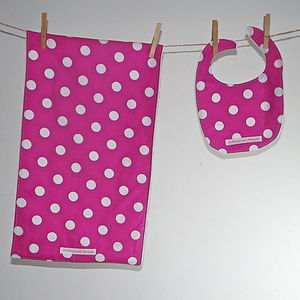 Girls' Bib And Burpcloth - Various Designs