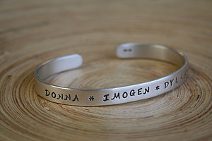 Personalised Men's Silver Cuff - personalised