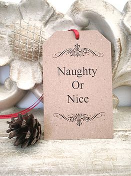 Christmas Gift Tags 'Naughty Or Nice'