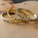 Stacking rings with gold plated ring